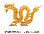 goldendragon isolated on white... | Shutterstock . vector #210782836