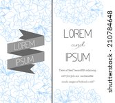 set of invitations with floral...   Shutterstock . vector #210784648