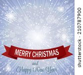 christmas snowflakes background ... | Shutterstock .eps vector #210787900