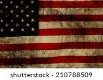 closeup of grunge american flag | Shutterstock . vector #210788509