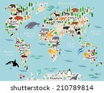 Animal Map Of The World For...