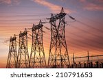 High Voltage Pylons Silhouette...