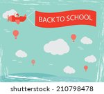 flying retro plane with the... | Shutterstock .eps vector #210798478