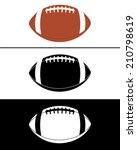 vector football icon set in...