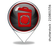 recycle pointer icon on white... | Shutterstock . vector #210801556