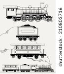 Vector Set Of Hand Drawn Steam...