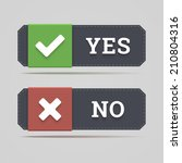 yes and no button with check... | Shutterstock .eps vector #210804316