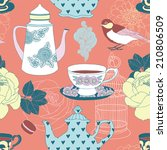 Teatime Seamless Vector Pattern