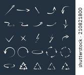 vector set of curved arrows.... | Shutterstock .eps vector #210821800
