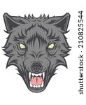 angry wolf head vector | Shutterstock .eps vector #210825544