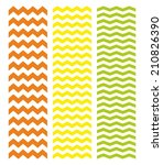 Tile Chevron Pattern Set With...
