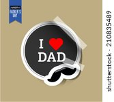 vector fathers day sticker with ... | Shutterstock .eps vector #210835489