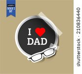 vector fathers day stickers... | Shutterstock .eps vector #210836440