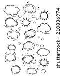 cartoon clouds and speech... | Shutterstock .eps vector #210836974