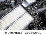 Small photo of new air filter for car, auto spare part