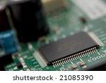 microchip on circuitboard... | Shutterstock . vector #21085390