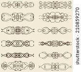 ornate vintage divide lines... | Shutterstock . vector #210859270