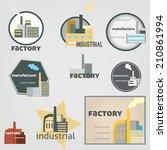 industrial labels vector | Shutterstock .eps vector #210861994