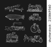 retro transport. old times.... | Shutterstock . vector #210869560