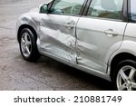 Damaged Silver Car  Scratches...
