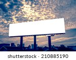 blank billboard   advertising... | Shutterstock . vector #210885190