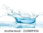 water splash with reflection | Shutterstock . vector #210889456