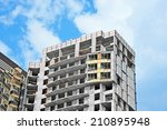 building construction site wok... | Shutterstock . vector #210895948
