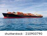 commercial cargo ship carrying... | Shutterstock . vector #210903790