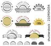 retro mexican taco design... | Shutterstock .eps vector #210904354