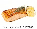 Salmon Steak With Lemon And...
