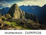 Machu Picchu At Sunset When Th...