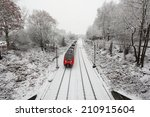 Train In Snow Covered Winter...