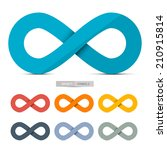 colorful paper infinity symbols ... | Shutterstock . vector #210915814