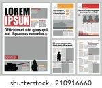 Graphical design newspaper template  | Shutterstock vector #210916660