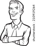 whiteboard drawing   smiling... | Shutterstock . vector #210919264