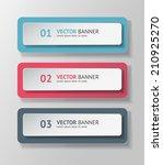 vector infographic banners set   Shutterstock .eps vector #210925270