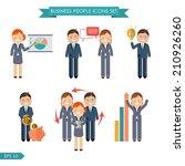 vector business people flat... | Shutterstock .eps vector #210926260