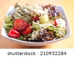 salad greens with a healthy...