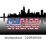 chicago skyline reflected with... | Shutterstock .eps vector #210935434