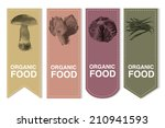 organic labels set with... | Shutterstock .eps vector #210941593