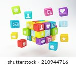 mobile phone app icon. software ...   Shutterstock . vector #210944716
