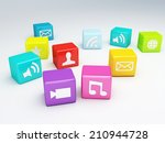 mobile phone app icon. software ... | Shutterstock . vector #210944728