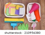 collection of cleaning products ... | Shutterstock . vector #210956380