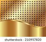 golden background with grid and ...