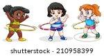 illustration of the kids... | Shutterstock .eps vector #210958399