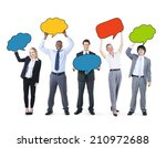 business people holding... | Shutterstock . vector #210972688
