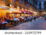 street restaurants at placa... | Shutterstock . vector #210972799