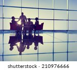 silhouette group of business... | Shutterstock . vector #210976666