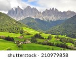 amazing funes valley in... | Shutterstock . vector #210979858