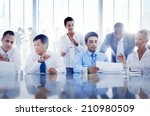 business people working... | Shutterstock . vector #210980509